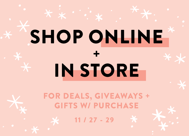 Friday-Sunday - November 27-29 Shop In-Store & Online with Rock Paper Scissors