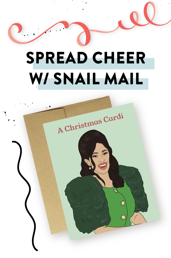 Spread cheer with snail mail